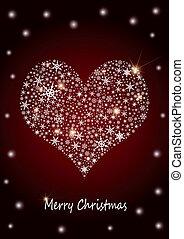 """クリスマス, 背景, """"heart"""""""
