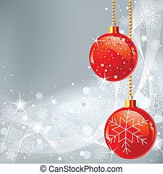 クリスマス, 背景, snowfla