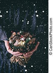 クリスマス, 花束, ∥で∥, 雪