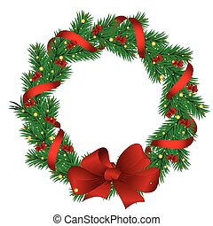 クリスマス, 花輪