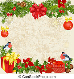 クリスマス, 花輪, 鳥