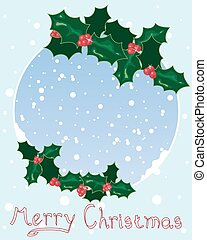クリスマス, 西洋ヒイラギ, デザイン