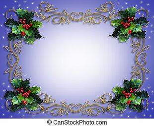 クリスマス, 西洋ヒイラギ, フレーム