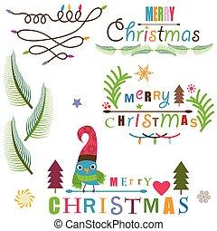 クリスマス, 要素を設計しなさい, セット