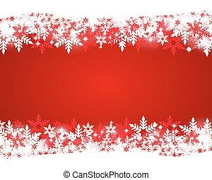 クリスマス, 赤い背景