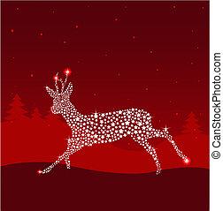 クリスマス, 赤い鹿