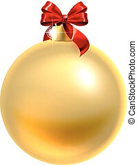 クリスマス, 赤, 安っぽい飾り, 金船首