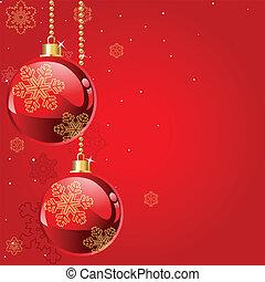 クリスマス, 赤, 抽象的