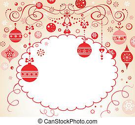 クリスマス, 赤, 招待