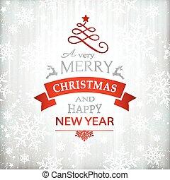 クリスマス, 赤, 活版印刷, 背景, 銀