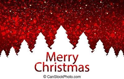 クリスマス, 赤, bokeh, 背景, 木