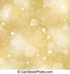 クリスマス, 金, 背景, 抽象的