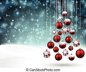 クリスマス, 雪が多い, バックグラウンド。