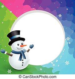 クリスマス, 雪だるま
