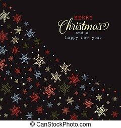 クリスマス, 雪片, 背景, 1211