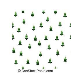 クリスマス, 雪片, semless, ボール, 贈り物, バックグラウンド。, パターン, ベクトル, 白, 箱, 木, illustration.