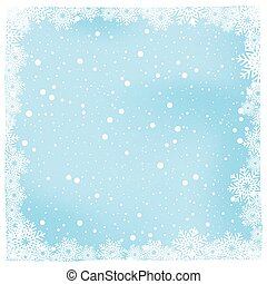 クリスマス, 雪, そして, 冬, 背景, ベクトル, イラスト