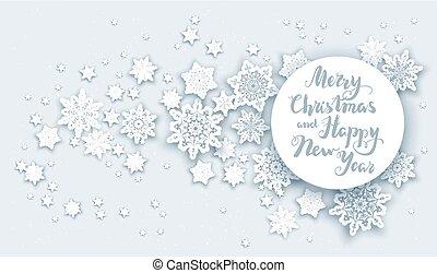 クリスマス, 雪, 挨拶