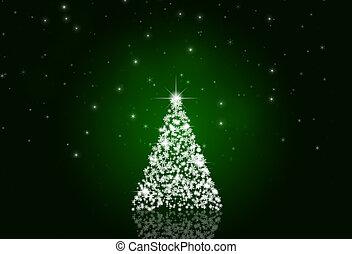 クリスマス, 雪, 木