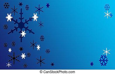 クリスマス, 雪, 葉書