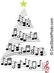 クリスマス, 音楽, 木