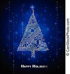 クリスマス, hi-tech, 木