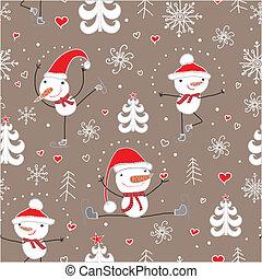 クリスマス, pattern., seamless