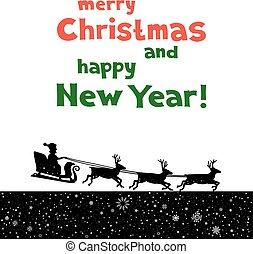 クリスマス, santa, 挨拶