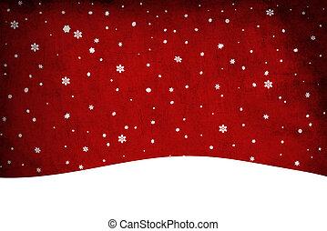 クリスマス, snow., clip-art