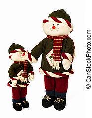 クリスマス, snowmen, 隔離された