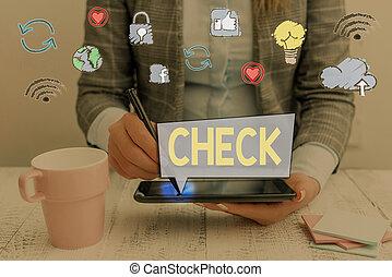 クリック, showcasing, 執筆, 印, 写真, 箱, 提示, check., 選択, form., 選り抜き, 特定, 順序, メモ, ビジネス