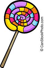 クリップアート, lollipop, イラスト, 漫画