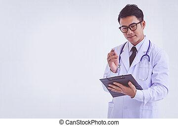 クリップボード, 処方せん, 保有物, 医者