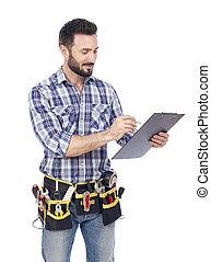 クリップボード, handyman