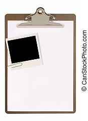 クリップボード, polaroid