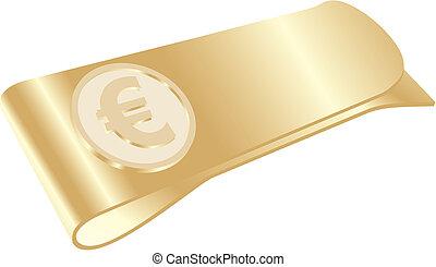 クリップ, 金, お金, ユーロ