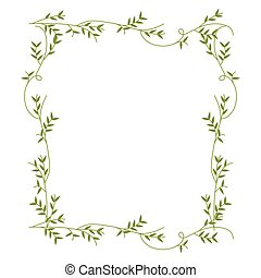 クリーパー, フレーム, 緑, デザイン, 自然