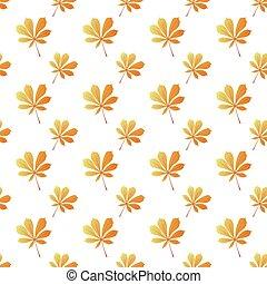 クリ, 馬, 葉, pattern., seamless, 秋, バックグラウンド。