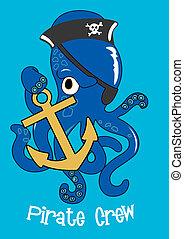クルー, 海賊, octopus.
