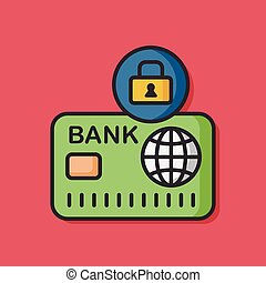 クレジット, セキュリティー, カード, アイコン