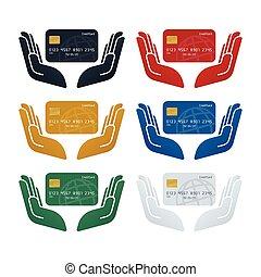 クレジット, セキュリティー, 概念, カード