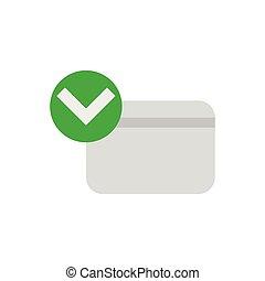 クレジット, 公認, カード, アイコン