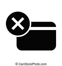 クレジット, 取除きなさい, カード, アイコン