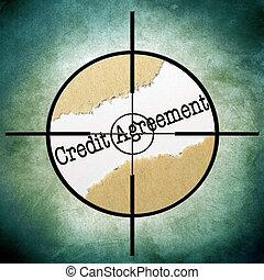 クレジット, 合意, ターゲット