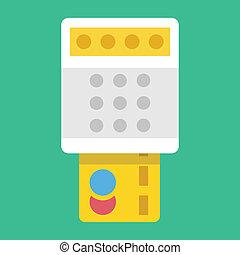 クレジット, 支払い, カード, アイコン, ベクトル