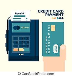 クレジット, 支払い, カード
