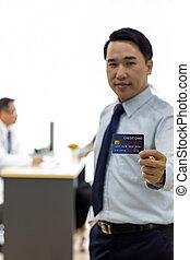 クレジット, 概念, 患者, 保険カード