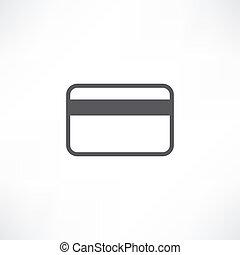 クレジット, 白, カード, アイコン