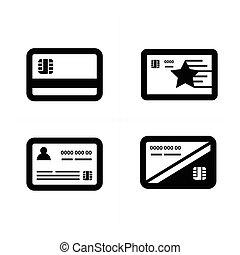 クレジット, 白, 黒, カード