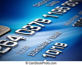 クレジット, 細部, カード